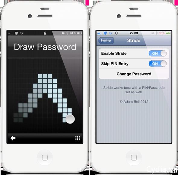 Stride mở khoá bằng gestures cho iPhone