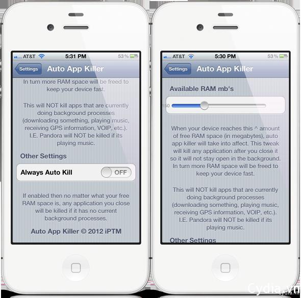 Auto App Killer – tự động gỡ bỏ ứng dụng chạy ngầm giải phóng RAM