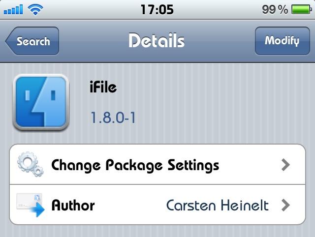 iFile – trình quản lý file toàn diện nhất trên iPhone, iPod Touch, iPad