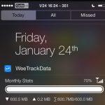 WeeTrackData7 for Notification Center – theo dõi sử dụng dữ liệu di động nhanh chóng trên NC