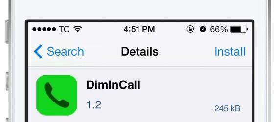 DimInCall – rung, làm tối màn hình khi có kết nối cuộc gọi.
