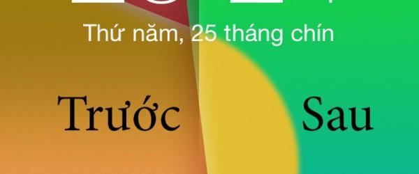 Bỏ viền đen khi đặt hình nền ở iOS 7.1.x