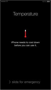 quá tải nhiệt trên thiết bị iOS